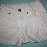 Белые очаровательные шорты ф.H&M для девочки р 98/104 на 2/3года