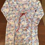 Ночная рубашка теплая на баечке, Сорочка, Ночнушка с начесом, начес Хлопок 92-98-104-110-116-122-128
