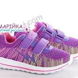 Кроссовки для девочки, легкие, пена подошва фиолетовые 27,28,31