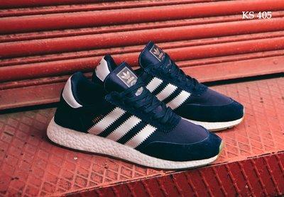 Как оригинал. Бесплатная доставка. Кроссовки Adidas Iniki Runner синие KS 405