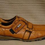 Мягчайшие легкие фирменные кожаные кроссовки Diesel Италия 45 р