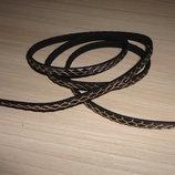 Шнур черный Кожа змеи