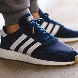 Бесплатная доставка. Кроссовки Adidas Iniki Runner синие KS 405