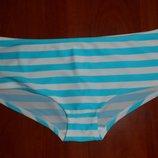 плавки от купальника широкие шортики в полоску 16 размер