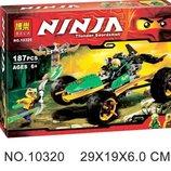 Конструктор Bela 10320 Ninjago Ниндзяго тропический Багги зеленого нинзя, 187 дет.