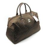 Сумка дорожная текстильная женская коричневая Chanel 5340