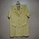 Платье пиджак р.44-46, Moda Show Paris-Milano летнее, нарядное, женское ярко лимонный шикарное