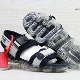 Сандалии мужские Nike Sandals Off white x Nike Air VaporMax blue