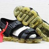 Сандалии мужские Nike Sandals Off white x Nike Air VaporMax black