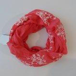 шарф хомут снуд с вышивкой c&a германия сток