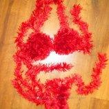 Купальник Новогодний а-ля Санта Клаус красный из травки