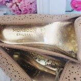 Золотые туфли балетки Monsoon