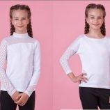 Блузка гольф белый в школу для девочки