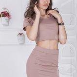 8 цветов Женский костюм топ юбка мини Buffoon 13241