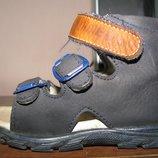 Ортопедические кожаные сандалии-босоножки Minimen р. 20, ст. 13-12, 5 см.