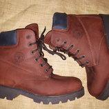 39р-25 см нубук на шерсти ботинки Micio Made in Italy состояние новых
