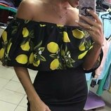Вечернее платье с лимонами