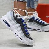Кроссовки женские Nike 95 white/blue