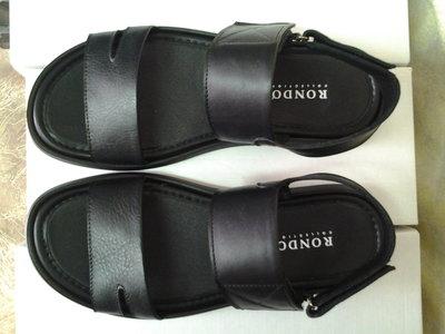 Стильные мужские чёрные кожаные сандалии Rondo 40,41,42,43р.
