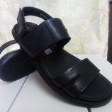 Стильные мужские чёрные кожаные сандалии RondoРаспродажа 40,41,42,43р.