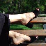 Шлепки на толстом каблуке из натуральной кожи замши Лидер продаж