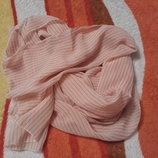 Крутой стильный бежевый платок