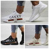 Модные женские кроссовки GUCCI Италия 3 цвета