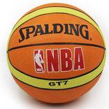 Мяч баскетбольный резиновый Spalding 2674 размер 7, резина, бутил