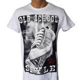 Белая мужская футболка Highlander - 4266