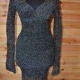 платье вязаное крючком с люрексом Секси