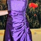 Платье бюстье вечернее нарядное фиолетовое в пол пышное размер 44-46 Tiffanys.