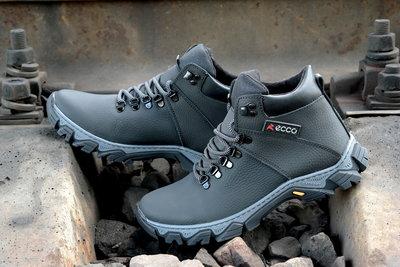 4e517463 Мужские зимние ботинки кроссовки Ecco прошиты проклеены, на шерсти Топ  продаж