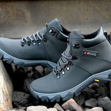 Мужские зимние ботинки кроссовки Ecco прошиты проклеены, на шерсти Топ продаж