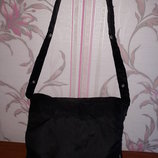 Мужская черная тканевая сумка