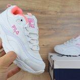 Кроссовки женские Fila Ray white/pink