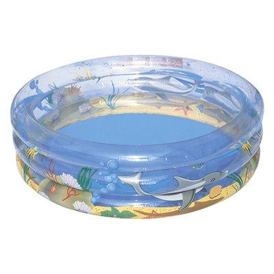 Бассейн детский Море 170 53см, круглый, 3 кольца, Bestway, 51048