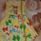 Платье красивое с бантиками 6 лет