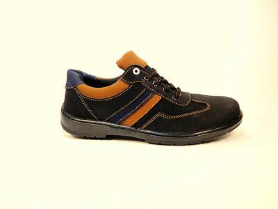 Туфли мужские спортивные, нубук, черные, на шнурках. Размер 40-45.