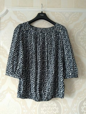 Размер 12-14 Красивая фирменная шифоновая блузка блуза