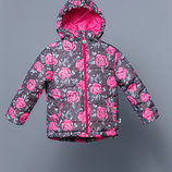 Демисезонная куртка для девочки розы 03-00748-0