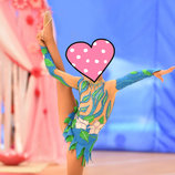 Купальник для гимнастики рост 104-116 см гимнастический купальник