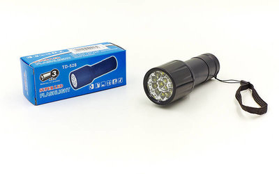 Фонарик светодиодный 528-14 14 светодиодов на батарейках