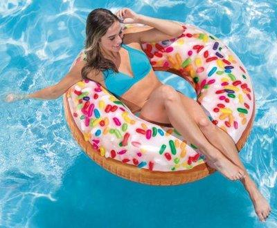 Надувной круг пончик большой 56263