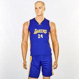 Форма баскетбольная подростковая NBA Lakers 5350 баскетбольная форма размер M-XL