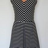 Фактурное платье в полоску Louche