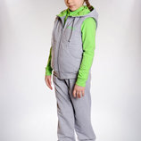 Трикотажный Спортивный костюм тройка для девочки 98-122р