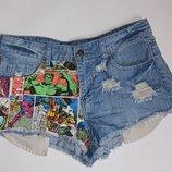 Крутые джинсовые шорты,р-р 10,евро 38,от Denim Co,в идеале