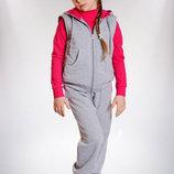 Уютный Спортивный костюм тройка для девочки 98-122р