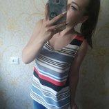 Шикарная блузка в горизонтальную разноцветную полосочку