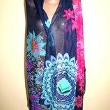 Desigual дизайнерский шарф, платок, палантин. Очень большой 195 х 107 см.
